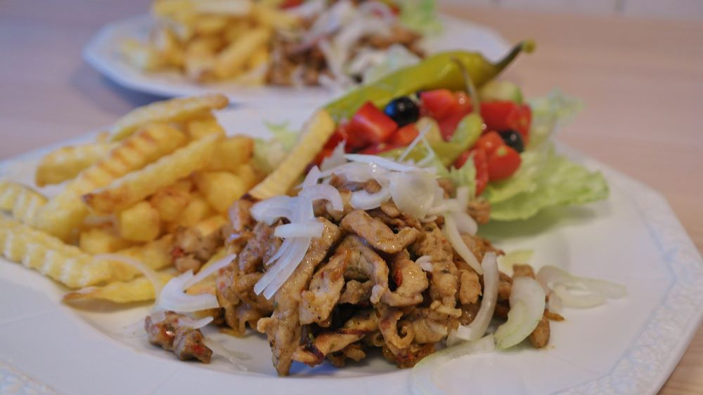 gyro dish on a plate