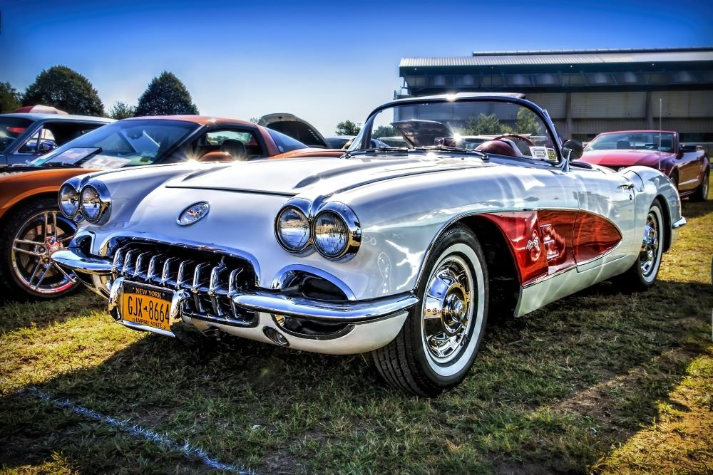 vintage car at a car show