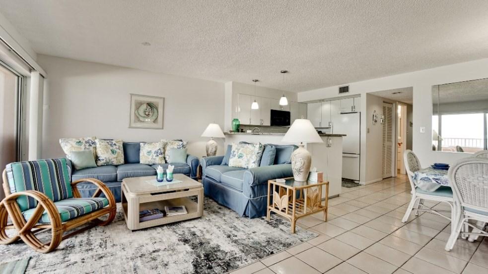 living room of anna maria island rental