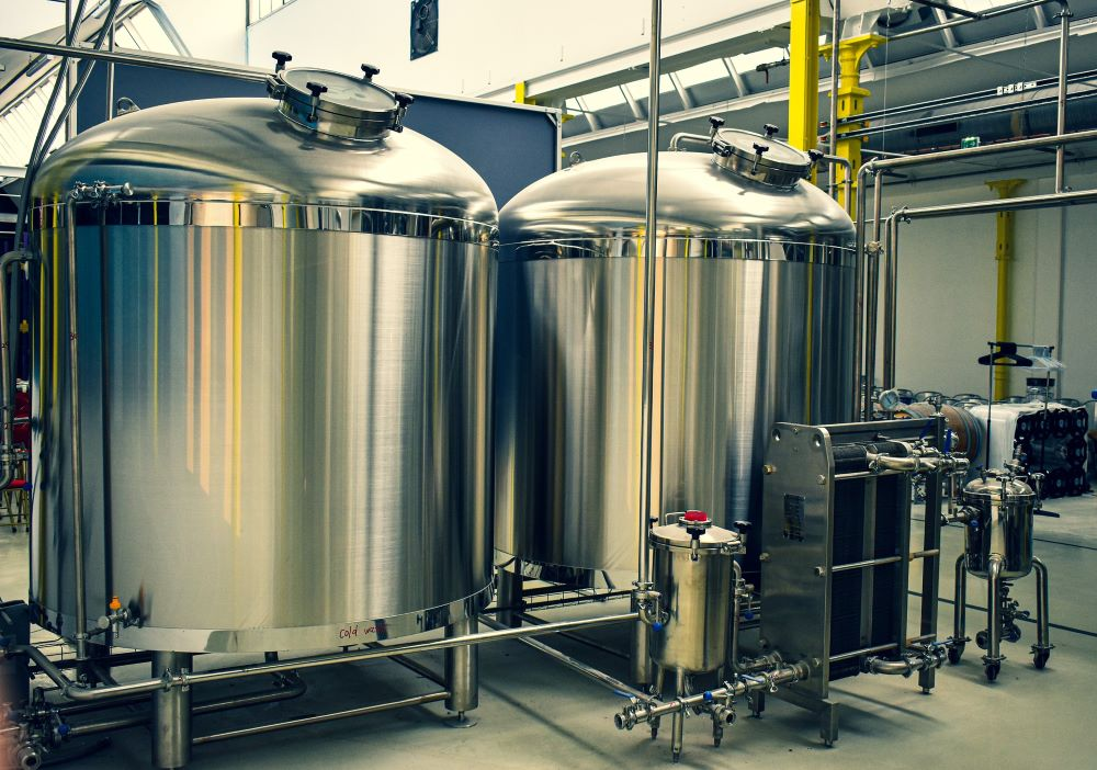 Brewery tanks and equipment