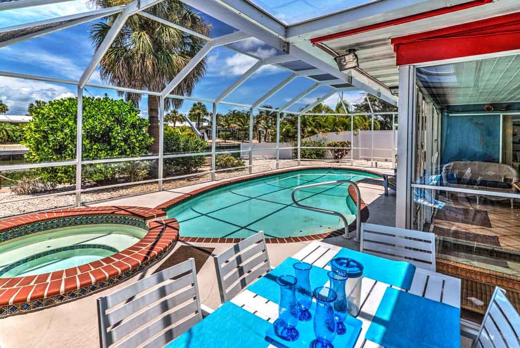 enclosed pool area in Anna Maria Island rental