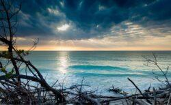 sunset over anna maria island beach