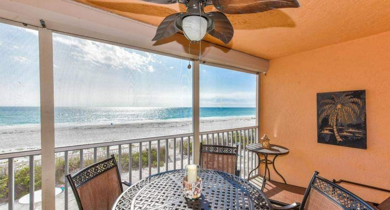 view of beach from vacation rental