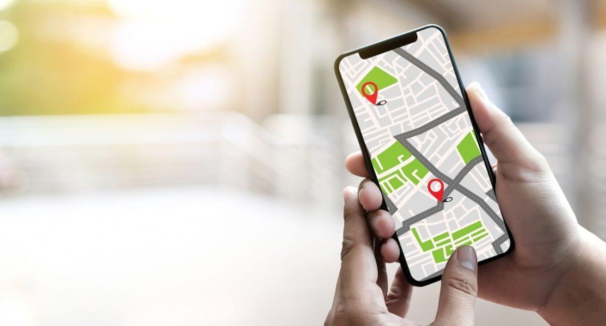 generic map on smartphone